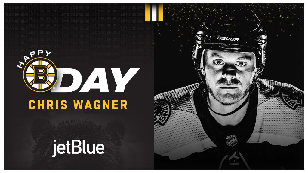 Happy Birthday, @chriswags23! 🥳 #NHLBruins