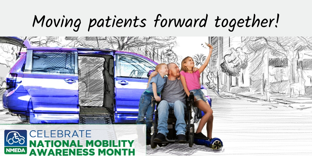 ACMA supports National Mobility Awareness Month. Case managers and social workers can share #mobility resources with patients and families. Thanks to #NMEDA members and our ACMA members, we can help patients live a more independent lifestyle. #NMAM2020 http://www.nmeda.orgpic.twitter.com/dCibXMlExs