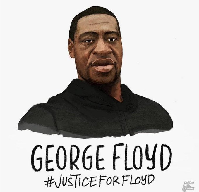 I'm tired. My soul is tired. My heart is heavy. But I can't stay quiet. That privilege isn't afforded to me. All I can do is rest so I can get back up and fight another day. I fight for my brothers and sisters who can't get up, who can't fight, who can't breathe. #GeorgeFloyd