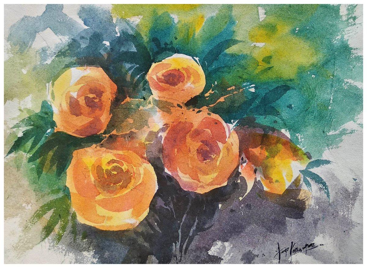 Watercolor on Indian handmade paper.... #watercolor #art #artwork #artists #Flower #ArtistOnTwitterpic.twitter.com/FiuzNohIkf
