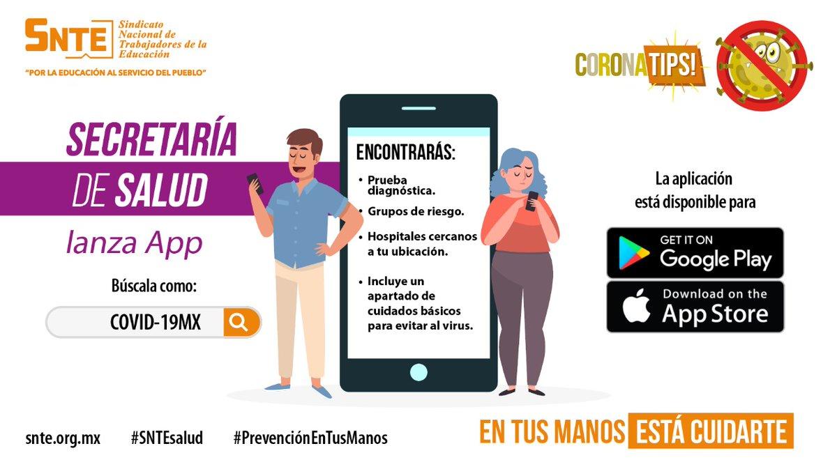 #SNTEsalud⚕️ Quieres saber sobre el #coronavirus #COVID__19❓ o hacerte la prueba diagnóstica en esta #Fase3 de alto contagio #COVID19 🦠❓ Baja la APP de la @SSalud_mx COVID-19MX 👈 #QuedateEnCasa #FelizMiercoles #27Mayo Siiii Ánimo #CuentaHasta10 #Mañanera #EnVivo FRAP #RT