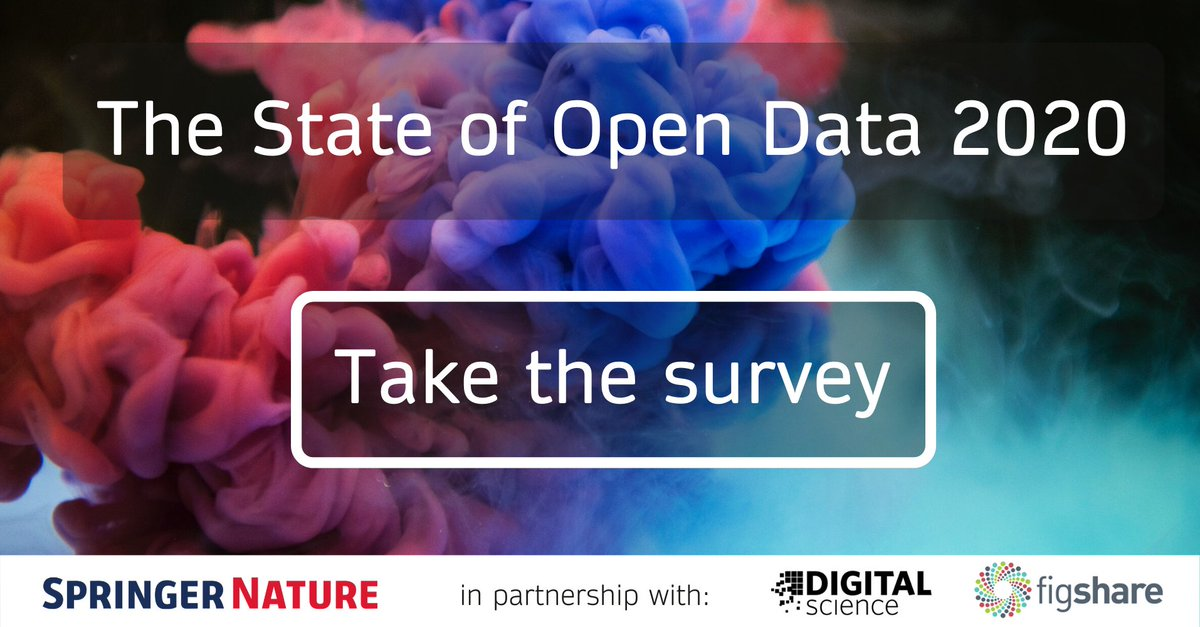 Calling all researchers: help us shape the future of open data. Have your say and you could win one of 5 $100 gift cards. Take the survey: https://t.co/1BJIpSJpRL #StateofOpenData @SpringerNature @figshare https://t.co/s7h62ePFVe