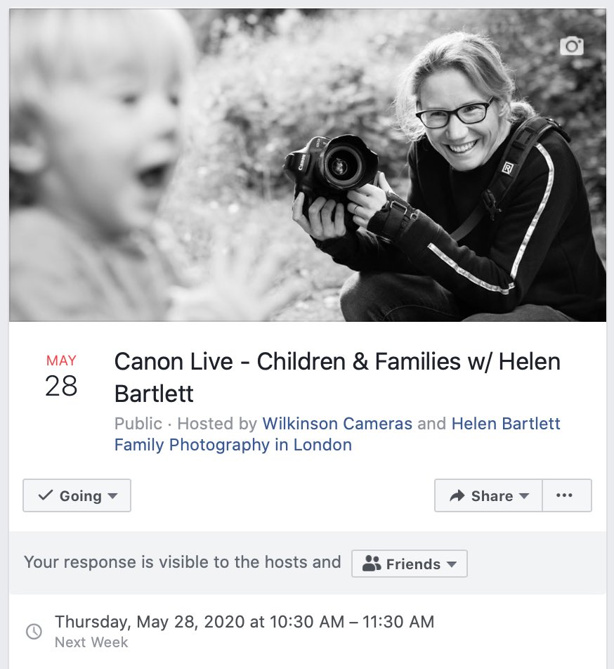Tomorrow at 10:30am I'll be live for @WilkiCameras and @CanonUKandIE on the Wilkinson's Facebook page. Do tune in for tips on Family Photography #canonambassador #familyphotography pic.twitter.com/TGMI3I3vWD