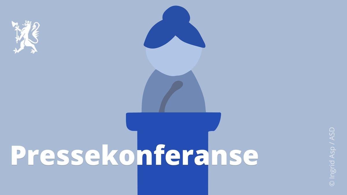 Pressekonferansen onsdag 27. mai kl. 1600 blir med helse- og omsorgsminister @BentHHoyre og kunnskaps- og integreringsminister @gurimelby. Følg streamen på https://t.co/Ednw1IkpFs og på HODs Facebook-side. #koronaNorge #korona https://t.co/j2tdbxsb9c