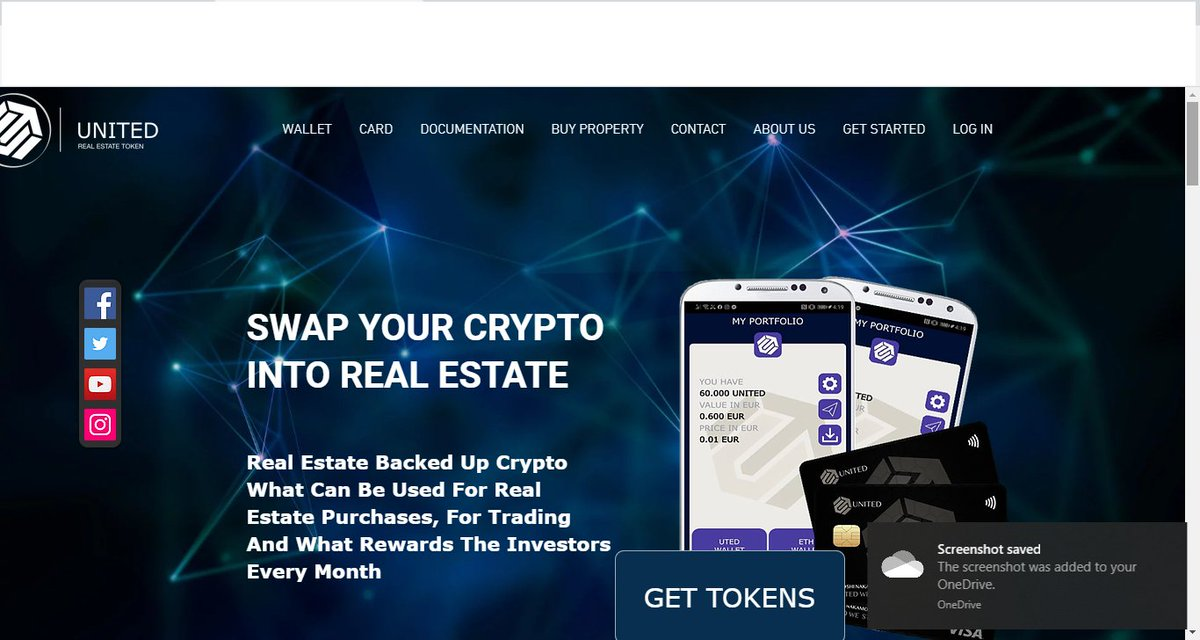 Best opportunity to earn money in May 2020 #ETH Real Estate EARN BIG 1.Sign up  -> http://uted.net   2. Use invite email 10%+5% --> robmalaga2030@gmail.com  3.Invest in #real #Estate   4.Get Paid instantly in ETH for your friends and network who buy United tokens.pic.twitter.com/GVdD0BuHif