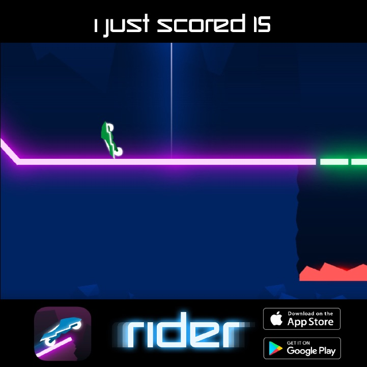 I just scored 15 points in #Rider ! Can you beat my score ? http://onelink.to/rider codpic.twitter.com/i7p7VkrQ5T