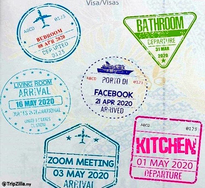 Passport stamps in new normal 2020. <br>http://pic.twitter.com/3pxWcPK430