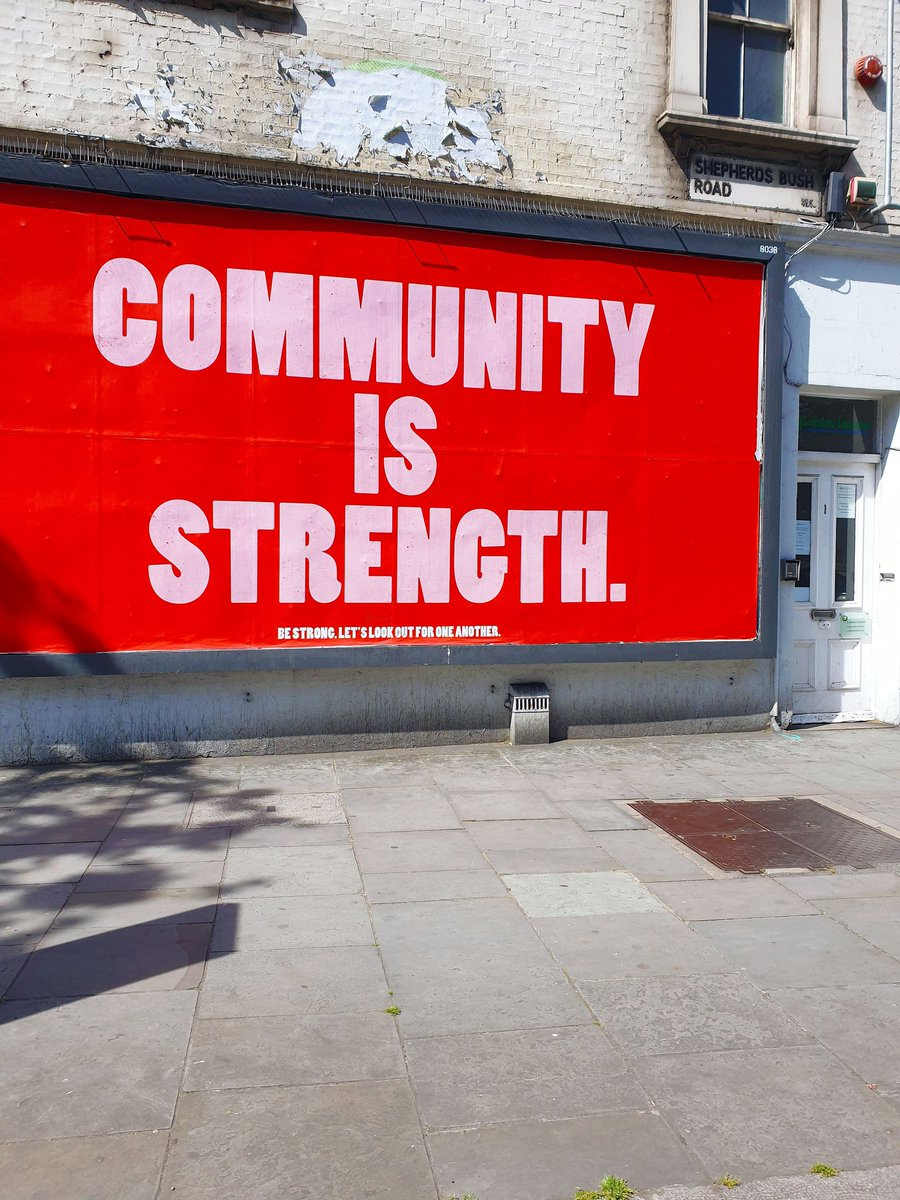 Words of encouragement in Shepherds Bush this sunny Wednesday! 🙌🏼❤🌈☀️ #community #hope