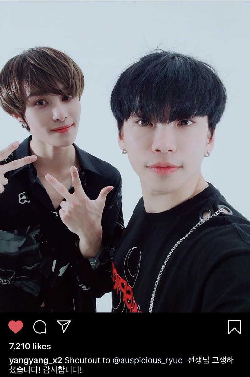 Emmi Super One On Twitter Yangyang Posted A Selca With His Choreographer Ryud Shoutout To Ryud Teacher You Worked Hard Thank You Ryud Ig Story I Worked With Nct