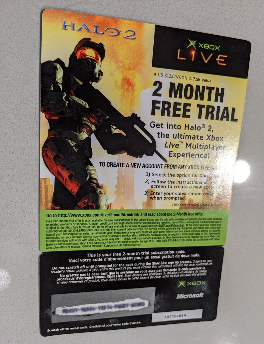 I was going through my games and found an Xbox Live code that may have started it all. 13 year old me had no idea what was in store for him. <br>http://pic.twitter.com/BLIeS0VacE