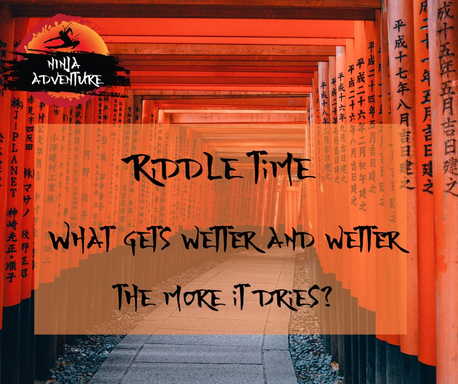 Who is missing  Ninja Adventure? Half term isn't quite the same without you.  We can't wait to re-open and welcome you all back.  Can you get head around this weeks riddle? Answers below #Ninjaadventure #lockdownactivities #wednesdaywisdompic.twitter.com/EulnTxfftz