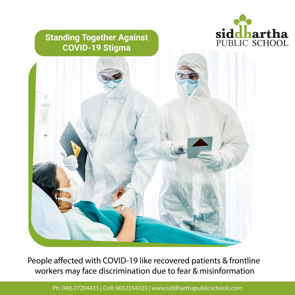 Standing Together Against COVID-19 Stigma:  People affected with COVID-19 like recovered patients& frontline workers may face discrimination due to fear & misinformation.   #COVID19 #AgainstCOVID19 #COVID19Stigm #IndiaFightsCorona #Coronapic.twitter.com/EsJbObn5LE