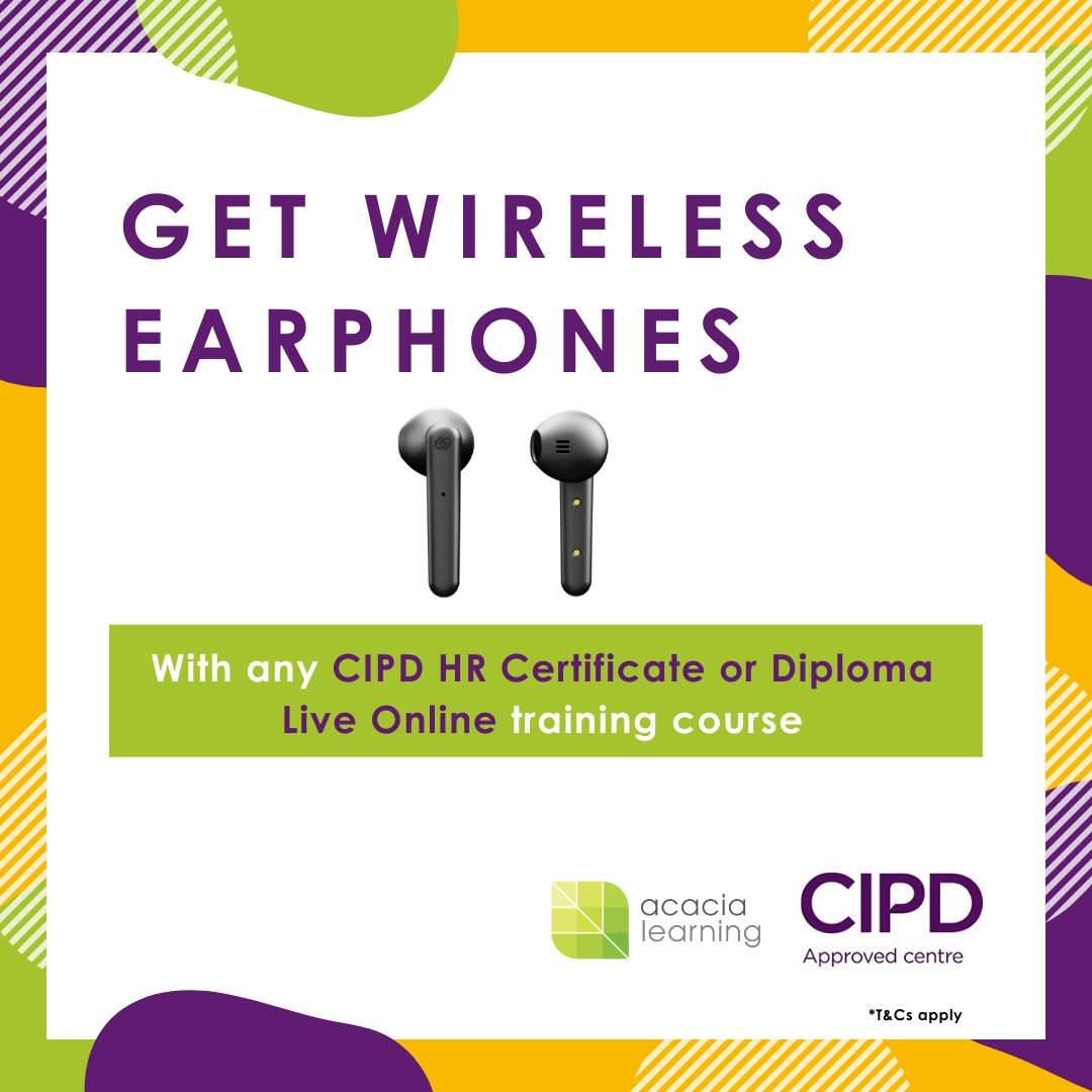Our live online classes are more fun with earphones! Thats why were giving away a free pair of earphones when you enrol on any Live Online #CIPD classes with us. Find out more here: ow.ly/hYPp50zRbfh