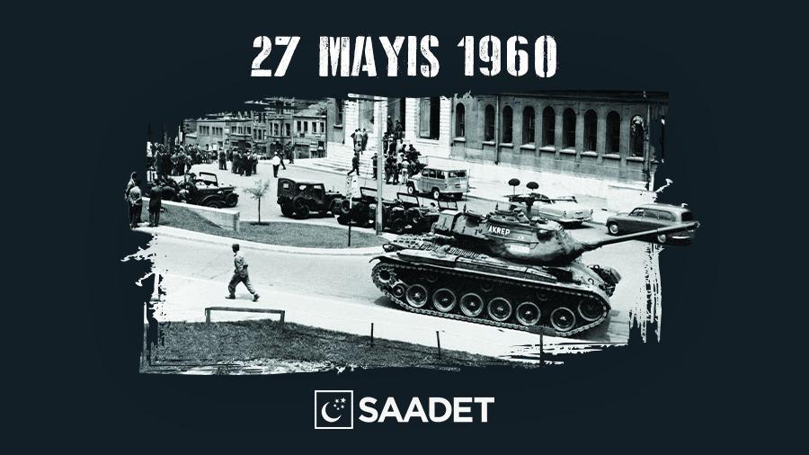 Demokrasimizin işleyişine ve milletimizin iradesine vurulmuş en ağır darbelerden birisi olan 27 Mayıs 1960 darbesinin yıl dönümünde Adnan Menderes'i, Fatin Rüştü Zorlu'yu, Hasan Polatkan'ı rahmetle anıyor, hukukun tam manası ile hakim olduğu bir Türkiye temenni ediyorum. #27Mayıs https://t.co/NYwePPv4sj