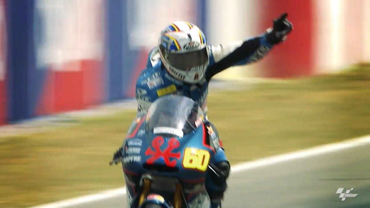 El día que Julián Simón celebró la victoria una vuelta antes del final y la reacción de Jorge Martínez Aspar 👀 Recuerdos de una (exitosa) era de 125cc 🏁 ¡Disfrútalos en DAZN!