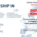 Image for the Tweet beginning: 179 acts of artistic #censorship