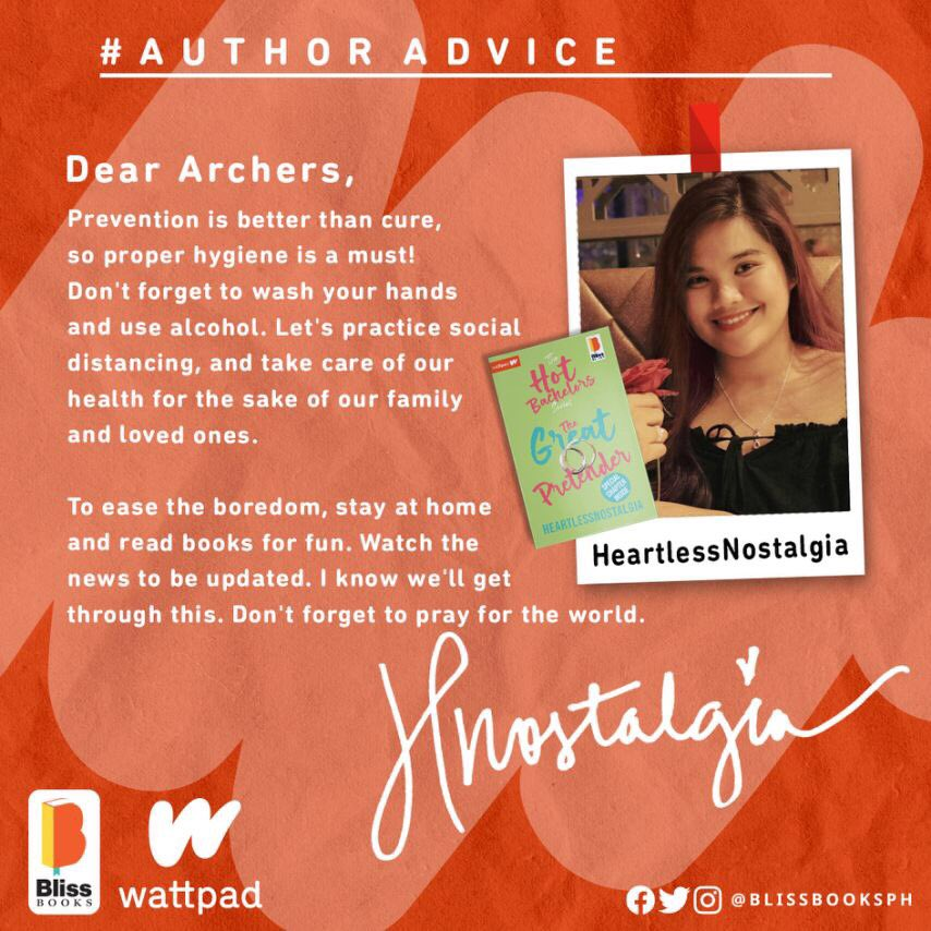 We hope you're safe and doing alright, Archers!  Here's a special #AuthorAdvice message from HeartlessNostalgia. Take care, and #FollowYourBliss!  pic.twitter.com/j4RZhcZuf7
