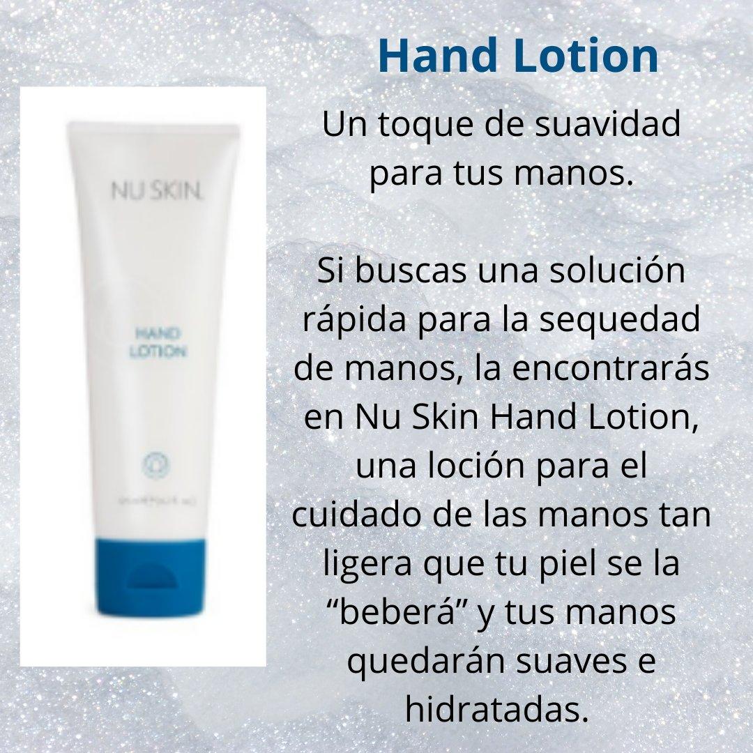 Hand Lotion: Un toque de suavidad para tus manos. Nuestra mezcla exclusiva de acondicionadores suavizantes e ingredientes que atraen la humedad se encargará de que tus manos estén suaves y tersas al tacto. https://lolahp.mynuskin.com/content/nuskin/es_ES/products/product.97110329.html…   #cosmetica #cosmeticanatural #nuskinpic.twitter.com/GVdC5rWNja