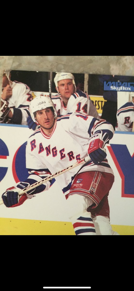 """#52 Now we all know that this is the """"Little Ball of Hate"""", Pat Verbeek. But he came from Hartford for 2 players and two picks. One of those picks was a first round goalie. Name him.  #nyrangersfan #nyr #hockey #rangers #nhl #trivia #retweet #repost https://t.co/tH9Jew8Nnq"""