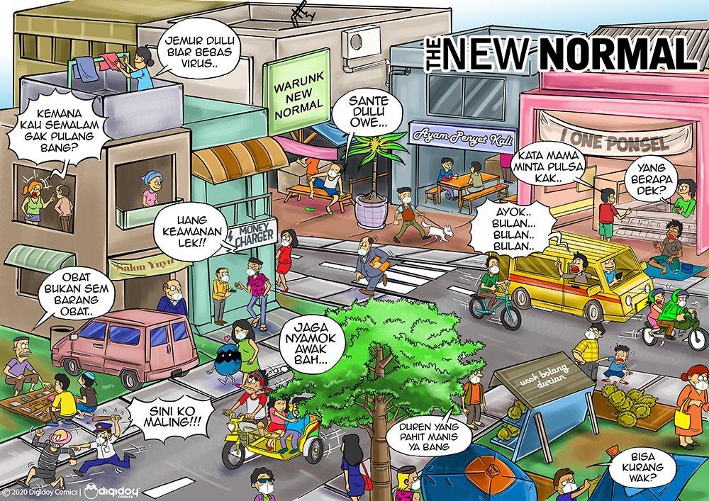 Ntah apanya yang new? napa gak kembali normal aja ya kan?  #digidoy #newnormal #thenewnormal #covid19 #corona #medan #indonesia #komikinajah #IndonesiaKuatpic.twitter.com/HdCgZOEhZ3