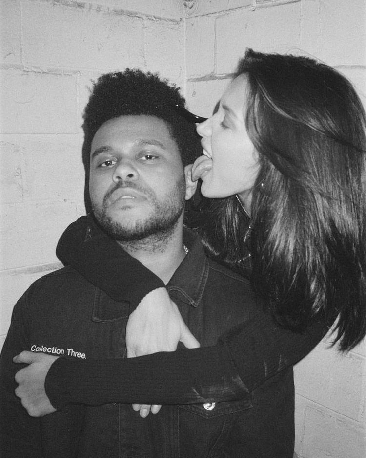 Bella Hadid & The Weeknd  #blackandwhite #BellaHadid #TheWeekndpic.twitter.com/K7IeFuEymG
