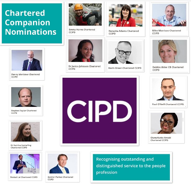 If you would like to nominate a Chartered Companion @CIPD you have until 31/05/20 to recognise outstanding & distinguished service. Nominations @ bit.ly/3glLijg (2019 companions featured in the pic) #cipd #hr #hrprofessional #peoplemanagement #peopleprofessionals