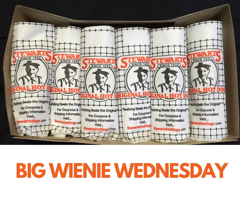 It's Big Wienie Wednesday with a twist......3 for $3!! Feed your friends and first responders. Fifth Ave 304-529-3647 Kenova 304-453-3647 #Stewarts4You #BeOriginal pic.twitter.com/1NMza0ouSI