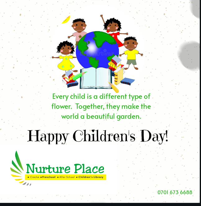 Happy Children's Day, lovelies!  Happy Children's Day to Mums and Dads too, after all, we are children of God.  #nurtureplace #earlyyears #creche #preschool #after school #goodcrechinota #goodpreschoolinota #homeschoolpreschool #homeschoolnigeria #virtualpreschoolpic.twitter.com/K0bHuh8Yfz
