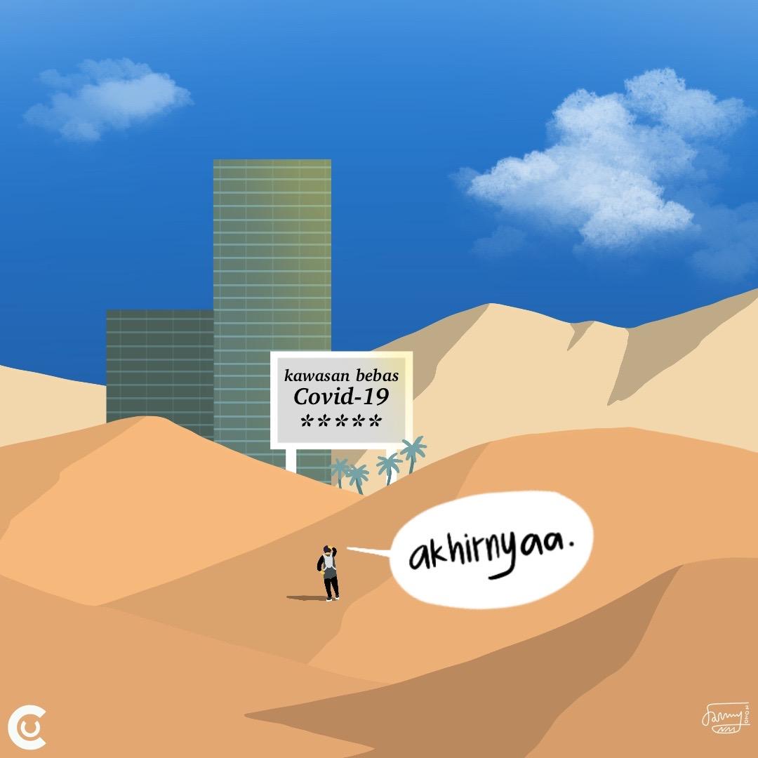 Oase di padang pasir @tirta_hudhi . . . #covid19 #illustration #komikstrip #komikinajah #komiklokalindonesia #dribbble #art #procreate #Indonesia #newnormal #nananina #ComicUnicpic.twitter.com/fceObeUylz
