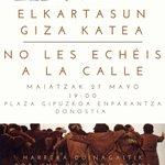 Image for the Tweet beginning: Etxea izateko eskubidea!  Ez