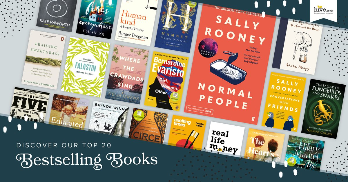 The @hivestores #BestsellingBooks Top 20 has been updated and features Sally Rooney at #No1, plus @bernardineevari @pronounced_ing @john_boyne Maggie O'Farrell, & more great reads! 🌟  Discover the #Top20 & support an #indiebookshop while shopping online: https://t.co/UpKzRBuFDx https://t.co/FpDsn8YOIF