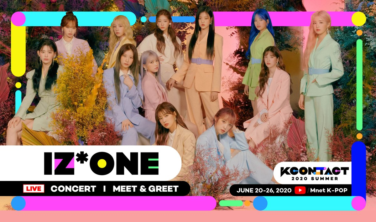 [KCON:TACT 2020 SUMMER] 1ST LINEUP   @official_izone is coming to #KCONTACT !  Did you guess it correctly?   Mnet-Kpop YouTube link: http://youtube.com/Mnet   #IZONE #KCON #KCON247 #KCON2020 #MnetKpopYouTubepic.twitter.com/NXX03LlYg5