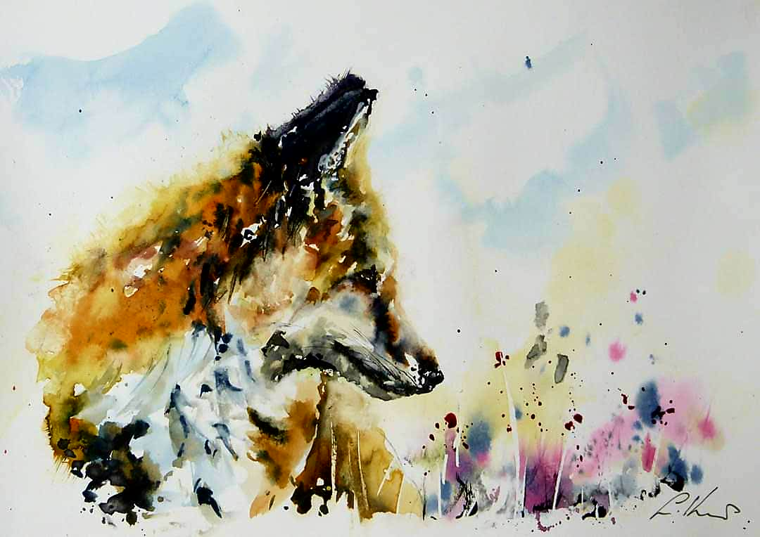 Farewell to one if my favourite Fox paintings, off to it's new home tomorrow.... #watercolour #fox #paintingpic.twitter.com/HI4gVWbgMx