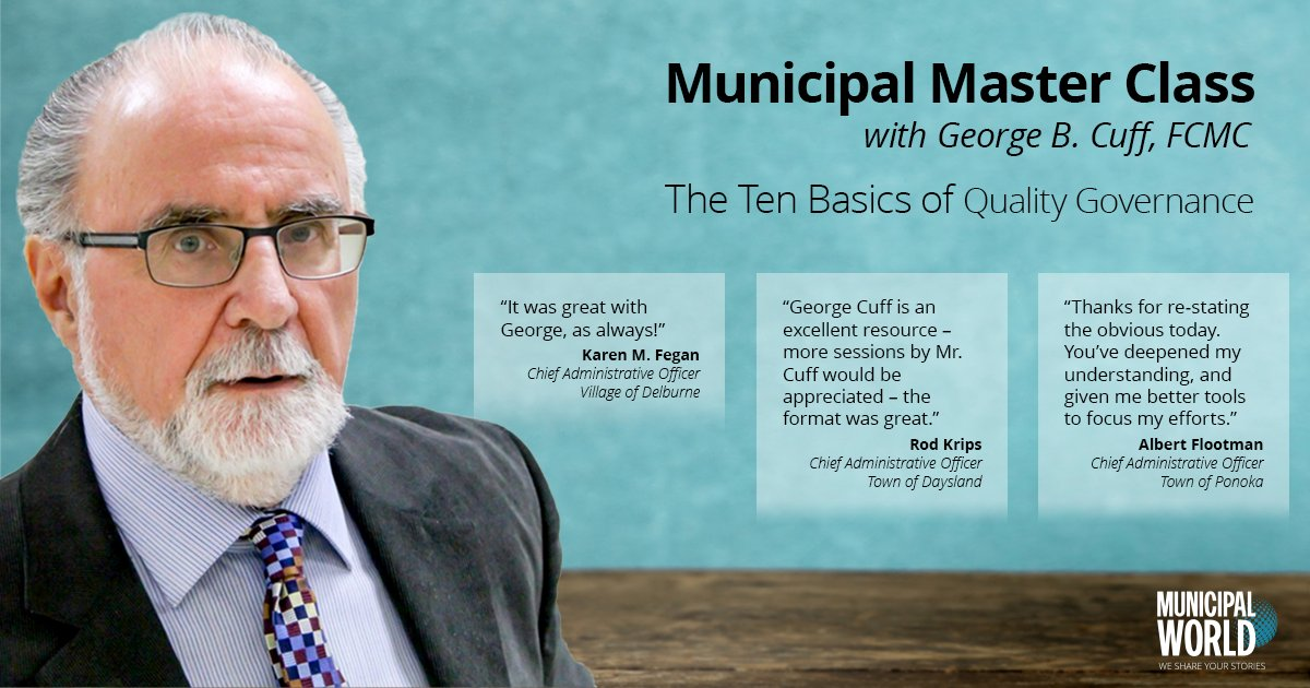 Very grateful for all the positive feedback on our sold out Master Class with George Cuff. It was a fantastic opportunity for @MunicipalWorld members and we were honoured to bring it to our attendees. For those who were unable to join us, there is more to come! #CDNmuni #localgov