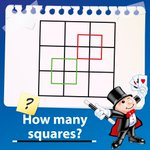 Image for the Tweet beginning: #BrainTeaser time! How many squares