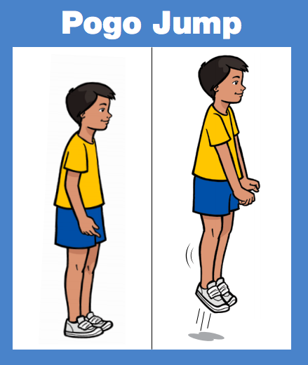 Movement of the day!   Pogo Jump: Stand with hands clasped in front, bent knees & feet together. Jump by pushing off your toes & straightening your legs. Repeat!  See all the  moves: https://tinyurl.com/ybcg6vpr  #movetoimprovenyc #physicaleducation #PEathomepic.twitter.com/KICKTaoXM4