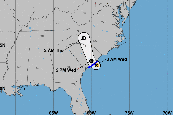 Tropical Storm Bertha forms in the Atlantic and will move into South Carolina. #weather #Storm11 #11alive #gawx