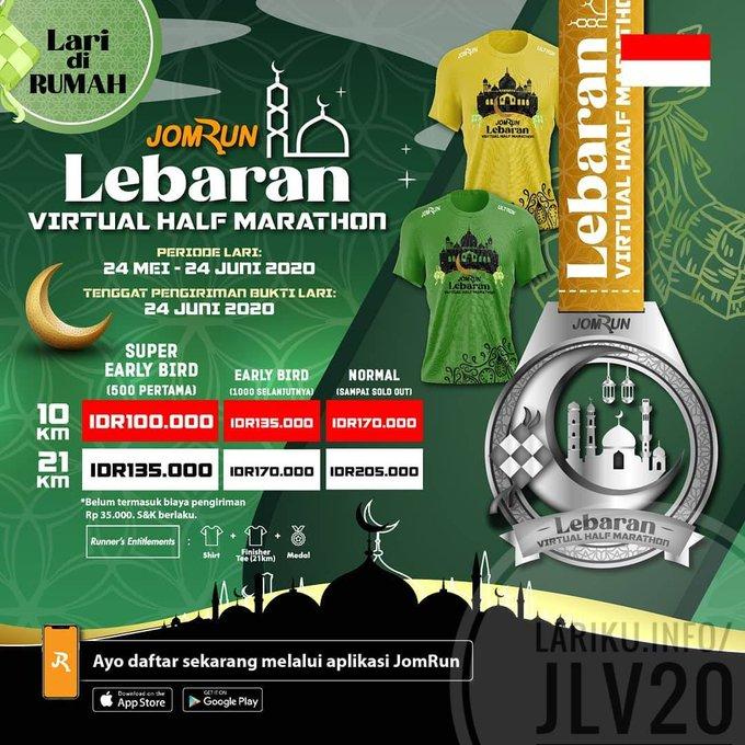JomRun Lebaran Virtual Half Marathon • 2020