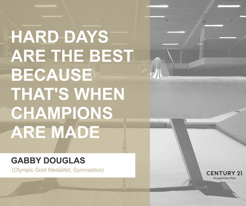 Whether today was a hard one or not...they definitely mold who we become! There's a win on the other side of each tough day!   #pushthrough #becomeachampion #charlestonrealestate #youcandothis #goldmedalist #goforthegold #thegoldstandard https://t.co/nOh5odfVwI