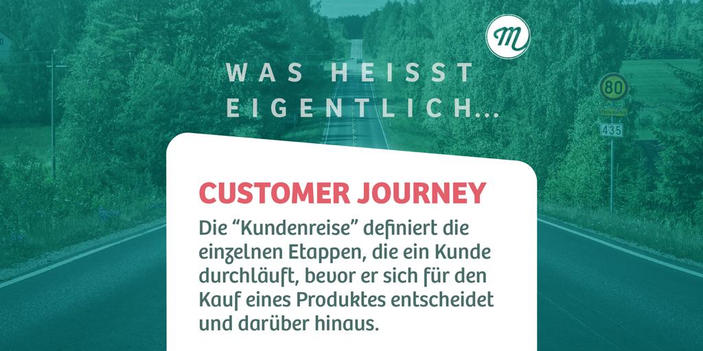 """Unser heutiges #buzzword : Die #customerjourney! Diese """"Reise"""" beschreibt alle Berührungspunkte, sogenannte Touchpoints, die der Kunde mit der Marke oder dem Produkt hat. Die Journey kann von Minuten bis hin zu mehreren Wochen oder Monaten dauern!  #onlinemarketing #werbeagentur"""
