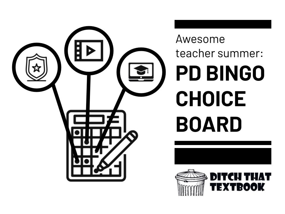 Awesome teacher summer: PD bingo choice board - Ditch That Textbook buff.ly/3g2y0rM from @jmattmiller