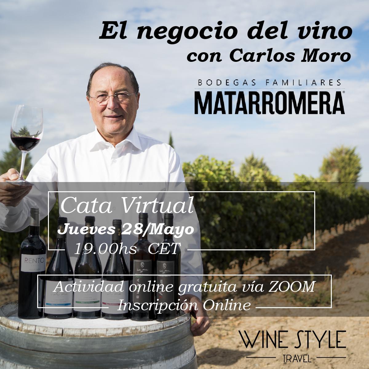 ¿Cuál debe ser la actitud de un empresario del sector del #vino en estos tiempos? Carlos Moro de @Matarromera nos hablará del mundo del vino, las oportunidades y la resilencia. Una sesión única que no puedes perder. Inscripción #CataVirtual: https://www.winestyletravel.com/inscripcion-catas-vinos-online-2/…pic.twitter.com/1R7yxg6V6y