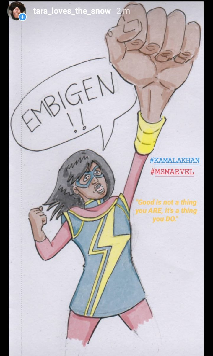 """#KAMALAKHAN #MSMARVEL  """"Good is not a thing you ARE, it's a thing you DO."""" <br>http://pic.twitter.com/EHgUCB51FF"""