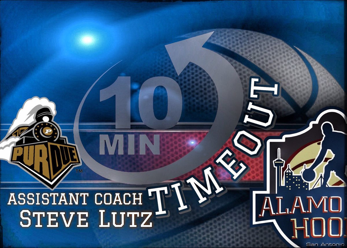 🚨The ACH 10 minute timeout!!🚨 Back at it 2nite, as we go into  Big 10 country to talk hoops! 🕜 7pm 🎙️Special Guest of @BoilerBall is San Antonio native Asst Coach @LutzSteve  Be sure to tune in #AlamoCityHoops https://t.co/TVDgKkPjDc