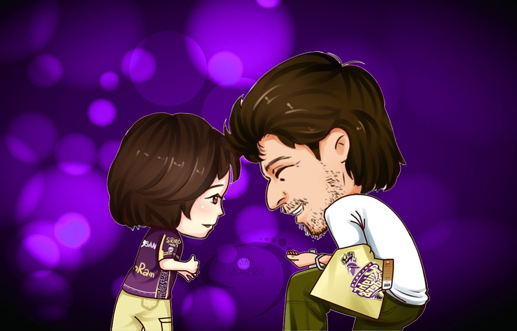 They created countless endearing moments at Eden Gardens, but this one is perhaps the sweetest one 💝😄🍶💦 #HappyBirthdayAbRam