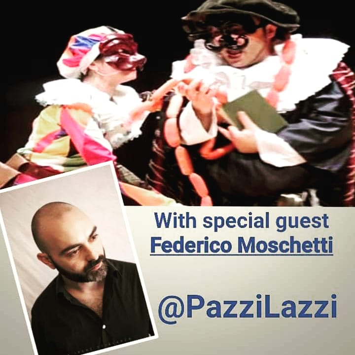 Today at 12 pm E.T. - 18:00 Italy time, we'll be Live on Facebook Pazzi Lazzi page to talk about LA COMMEDIA IN QUARANTENA with special guest Federico Moschetti of TradirEfare Teatro!  #commediadellarte #livetheatre #StayHome #Teatro #Italiantheaterpic.twitter.com/kbqhIgpmjj