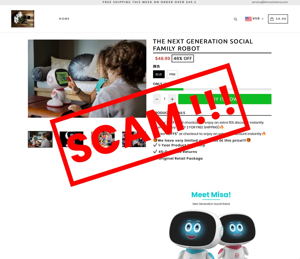 Fraudulent websites posing as Misa  We have witnessed on a number of social networks a phishing or phishing activity against Misa Robotics, where a website poses as Misa Please be aware the  fraudulent websites and use our logos and images without our authorization pic.twitter.com/Ejn8Y5URbl