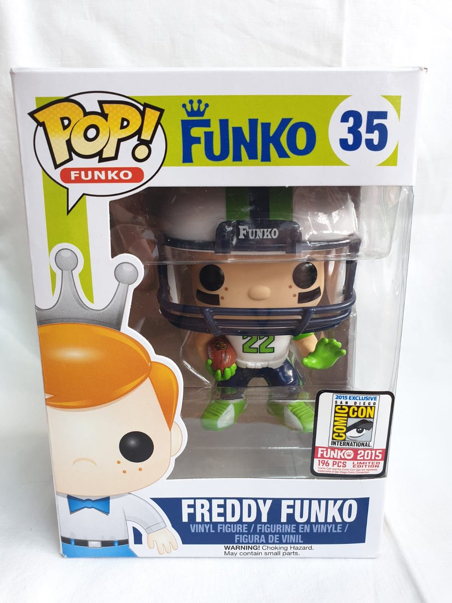 Who just doesn't love #FunkoPOP check this Freddy funko as a nfl player SDCC exclusive. Which is also up for sale!! <br>http://pic.twitter.com/a4wV7rdPWA