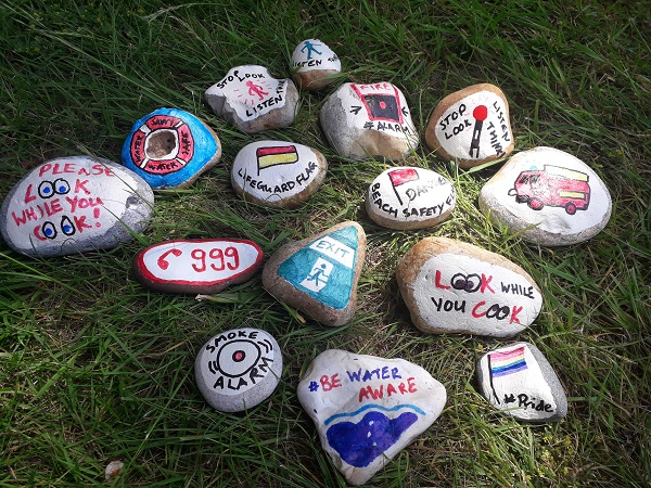 Weve been getting artistic in our time off! Wed love to see your #SecretStones too - these ones will be going out and about in #Eastbourne this weekend so keep your eyes peeled! #safety