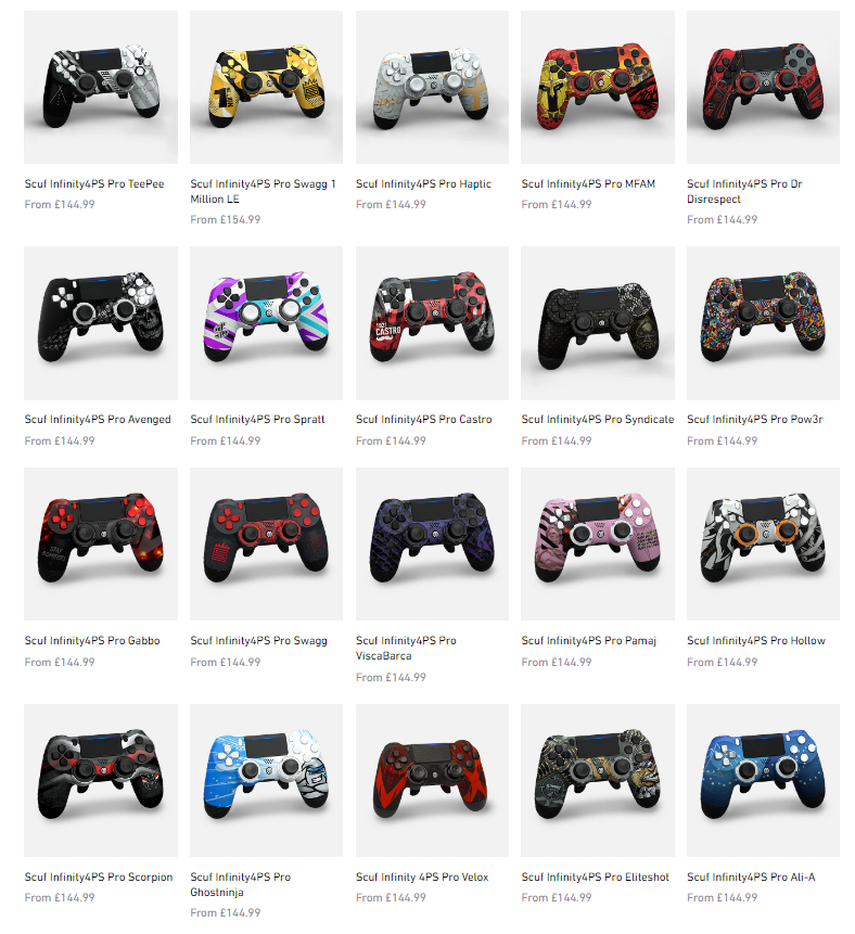 Whats the best @ScufGaming PS4 controller design? Gonna cop one for the first time and give it a go!